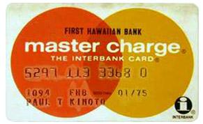 Карта Master Charge 1974 года. Символ