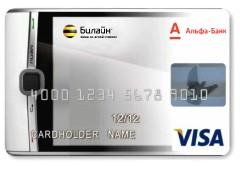 Пластиковая и виртуальная «Мобильная карта» Visa — Билайн — Альфа-Банк