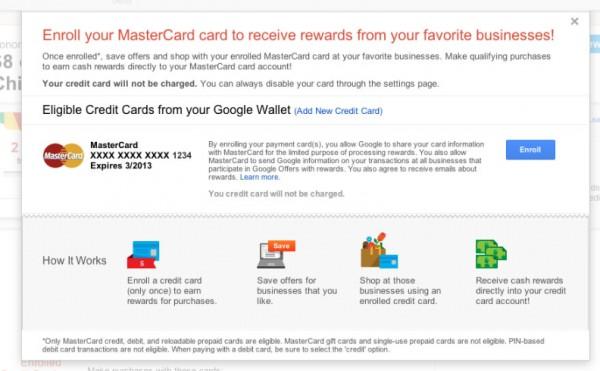 Google Offers раздает скидки прямо на кредитные карты