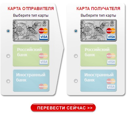 Перевод денег онлайн с карты на карту с помощью Мастер-Банка