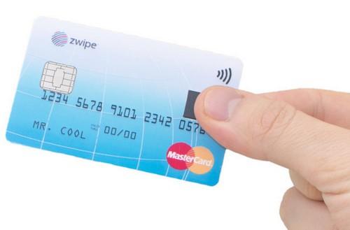 MasterCard со встроенным отпечатком пальцев