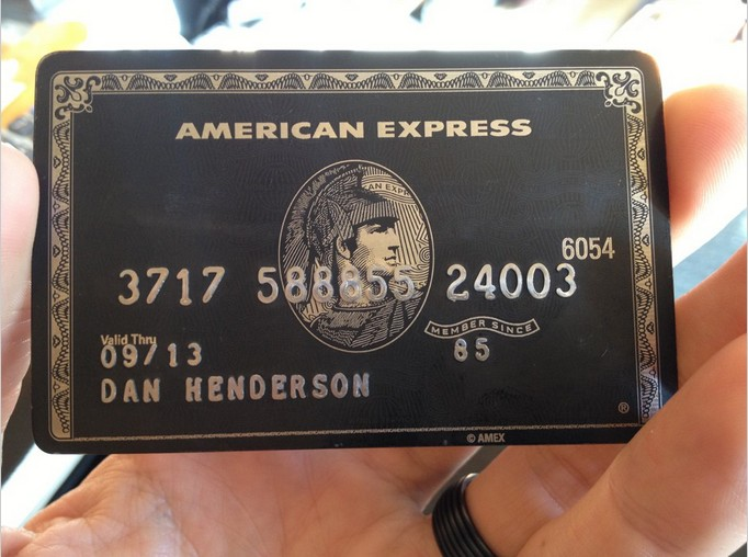 American Express Black Card (Карта «Центурион»)