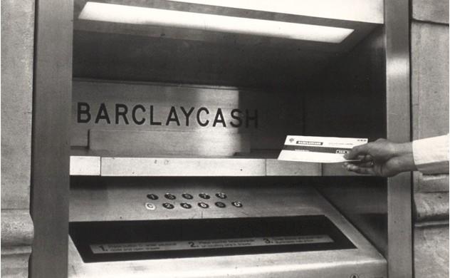 самый первый банкомат