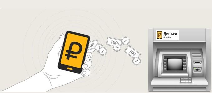как снять деньги с мобильного телефона через банкомат