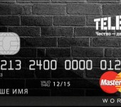 Бонусная кредитная карта от Tele2