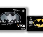 Банковские карты с логотипом Бэтмена
