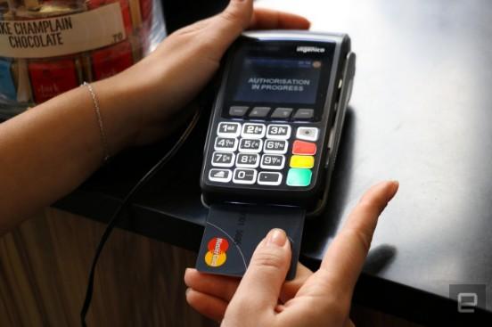 Банковская карта со сканером отпечатка пальца