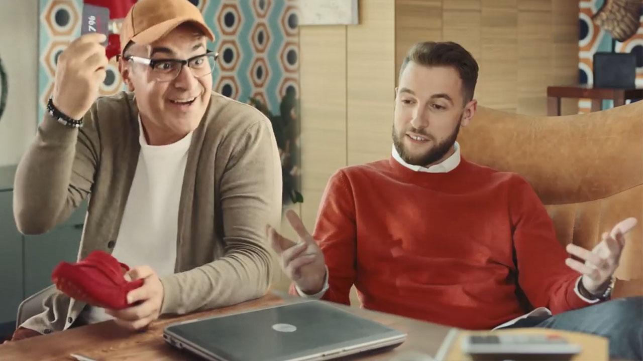 Гарик Мартиросян и Андрей Бебуришвили в рекламе Яндекс.Деньги