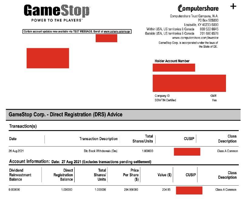 сертификат GameStop